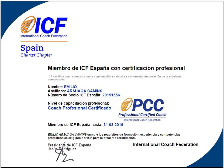 Cerfificación ICF